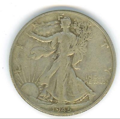 A Nice Circulated 1945-P Walking Liberty Half Dollar With Details
