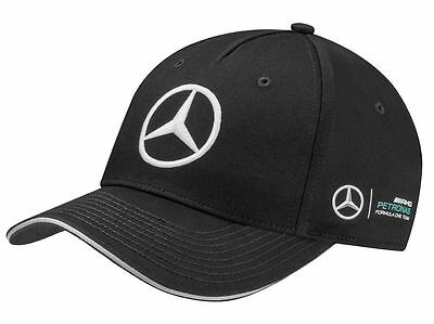 Genuine Mercedes-Benz Lewis Hamilton Black AMG Petronas 2017 Cap (B67995300) NEW