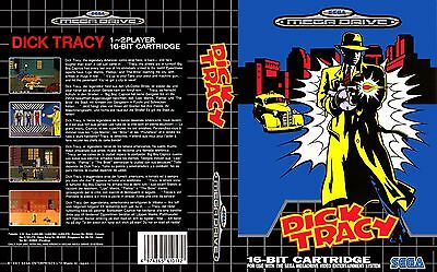 Dick Tracy Sega Mega Drive PAL Replacement Box Art Case Insert Cover Reproductio