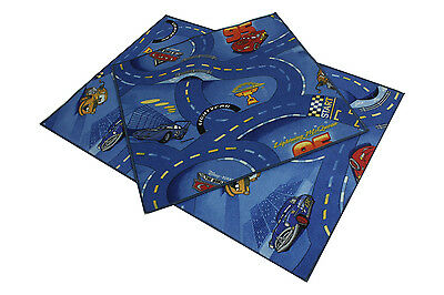 Disney Cars Blue Childrens Bedroom Playroom Carpets Kids Play Rug Pink Mat Fun