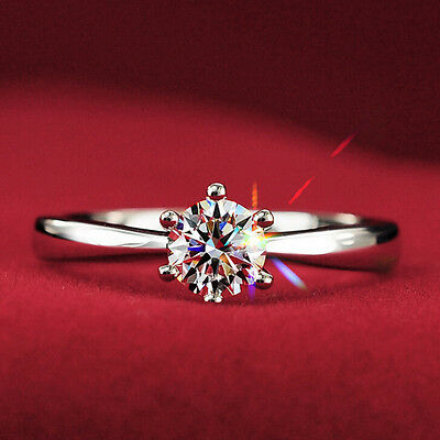 925 Sterling Silver Made With Swarovski Crystal Wedding Engagement Ring