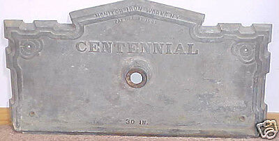CENTENNIAL FOUNTAIN FRONT PIECE by MONITOR IRON WORKS OF NY Dated 1889