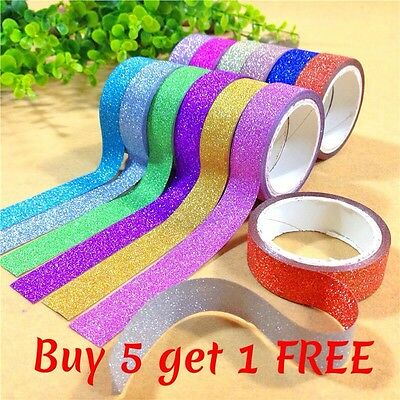 Glitter Washi Tape Stick Self Adhesive Sticker Decorative 4M Buy 5 get 1 FREE