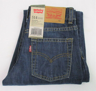 LEVI'S 514 Straight Leg  Jeans with Adjustable Waistband : Size 7 Reg.