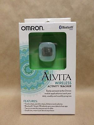 Activity Tracker Alvita Wireless Smart Bluetooth Light Blue by Omron Brand New