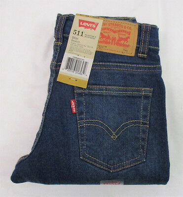 LEVI'S 511 Slim Stretch  Jeans with Adjustable Waistband - Size 7 Regular