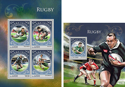 Sierra Leone Rugby Sports MNH stamps set 2 sheets