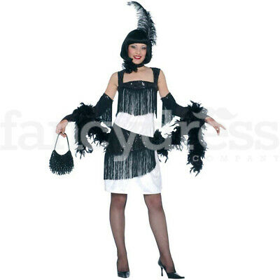 Deluxe Flapper Fancy Dress Costume Ladies 1920s 20s Bugsy Charleston Dance NEW