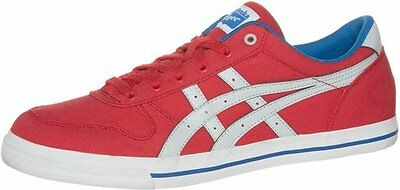 Asics Onitsuka Tiger Aaron Fiery Red Canvas Retro Fashion Trainers UK 3 - 13