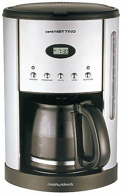 Morphy Richards Cafe Mattino Programmable Filter Coffee Maker S Steel 47070
