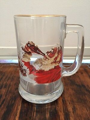 Coca Cola 15 Oz Glass Santa Clause Mug