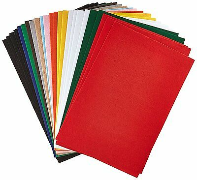 """CPE 100-49594 EZ Solid Stiffened Felt, 12"""" x 18"""" Size, Assorted Color"""