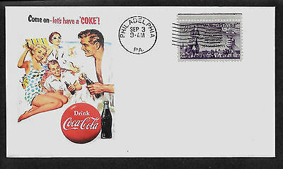 1950s Coca Cola ad Featured On Collector's Envelope *A435