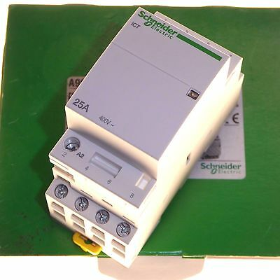 25 amp contactor 4 normally open 220 - 240V coil 25A Schneider A9C20834 New