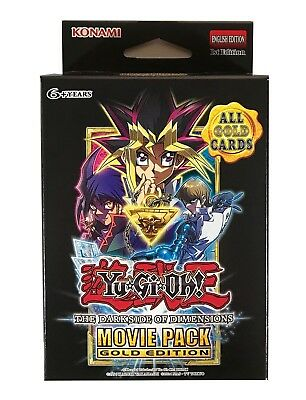 Yu-Gi-Oh The Dark Side of Dimensions Movie Pack Gold Special Edition Box