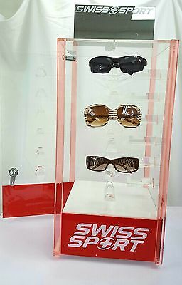 24 Pcs Acrylic Display Stands  Sunglass  Reatail Store  Holders Rotating Case