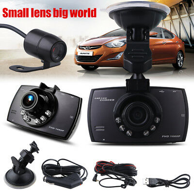 1080 HD Dual Lens CAR DVR Dash Cam Video Recorder Night Vision Rear Camera UK EU