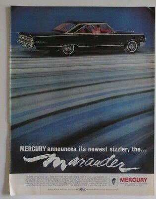 FORD MERCURY MONTEREY MARAUDER S-55 Car Print  Ad 1960's Vintage Advertising
