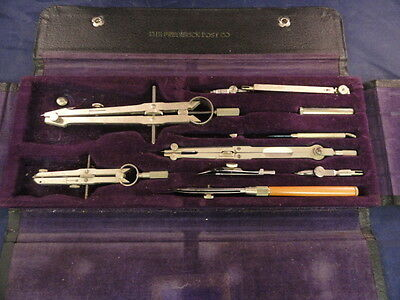 Vintage The Frederick Post Co Drafting Set in Original Case