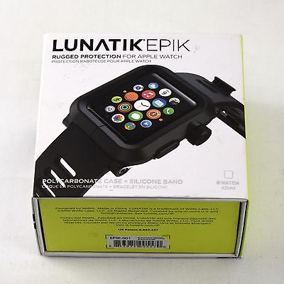 Lunatik Epik EPIK-001 Rugged Case+Silicone Band Apple Watch 42mm Black 215sw
