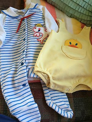 Baby Carter's Boys Sailor Sleeper and Ducky Romper