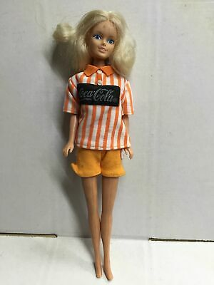 Vintage Barbie Size COCA COLA COKE FASHION DOLL 29 cm NO BOX