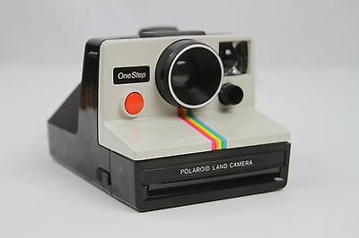 Polaroid SX-70 Land Camera OneStep White Rainbow Excellent and Working