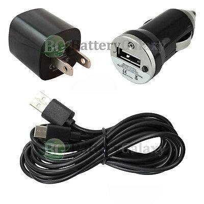 10FT USB Type C Cable+Car+Wall Charger for Motorola Moto Z Force/Play Droid NEW