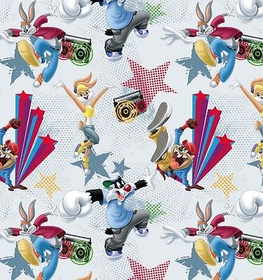 "Jersey "" Looney Tunes Dance "" Bugs Bunny & Co. - Kinderstoff"