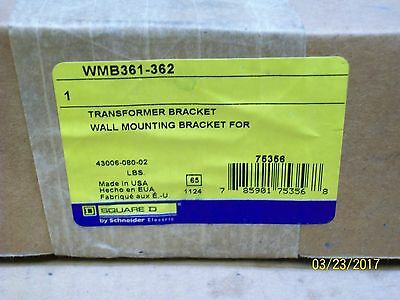 New Square D Wmb361-362 Transformer Wall Mounting Bracket
