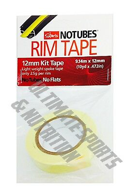 Stan's NoTubes Tape 12mm x 10 yd Roll Stans Yellow 12 mm Rim Tape Roll