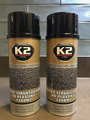 K2 PRO BUMPER Structure Black Plastic Fast Drying Masking Defects