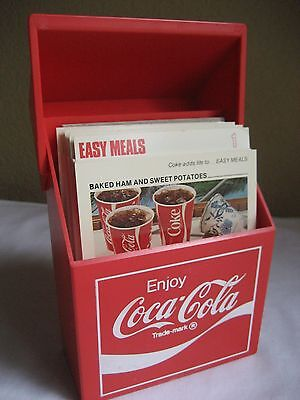 COCA COLA RECIPE BOX WITH RECIPES approved by Culinary Arts Institute