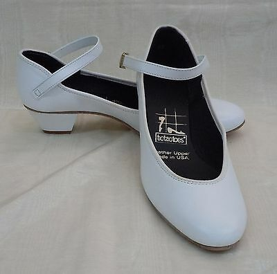 NIB!! Tic Tac Toes Julie Square Dance Shoe, White