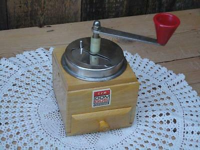 Vintage Wooden Coffee Grinder DOM GOS Czestochowa CZM Metal And Plastic Parts F3