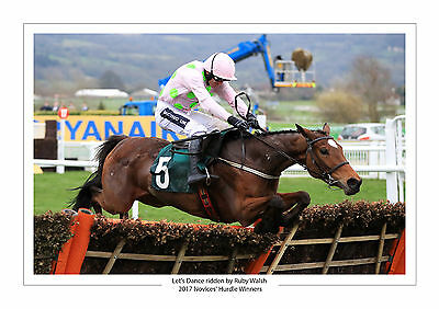 Let's Dance Ruby Walsh Cheltenham 2017 Horse Racing A4 Print Photo Novices'