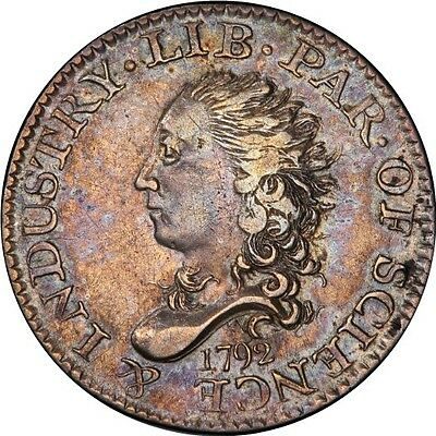 "1792 H10C Bust Half Disme PCGS AU50 ""Our Nation's first coinage"""