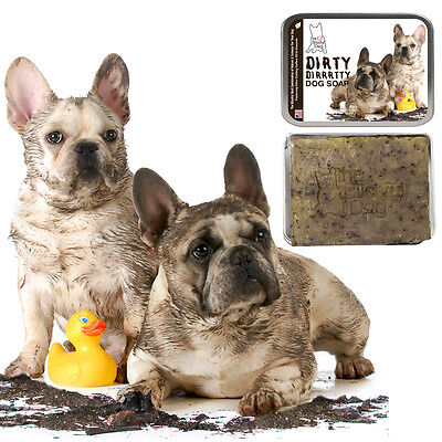 French Bulldog Dirty Dirrrtty Dog Soap For Your Filthy, Dirty, Stinky Frenchie