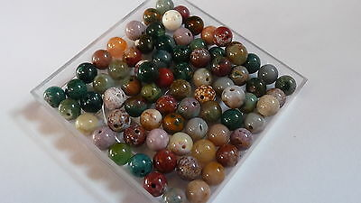 "70+ amazing drilled Madagascar Ocean Jasper beads, 6 - 7 m [450mm or 18"" string]"