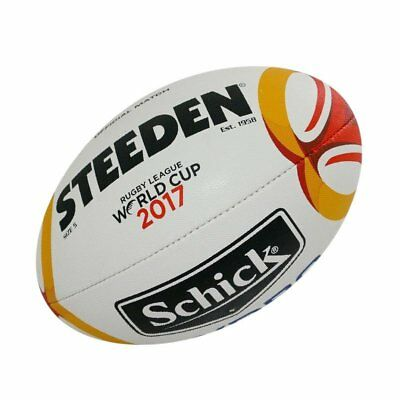 *BARGAIN* Steeden Rugby League 2017 World Cup Official Match Ball Size 5