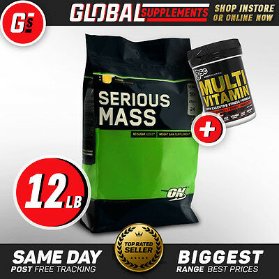 Optimum Nutrition 'on' Serious Mass (12Lbs) Weight Mass Gainer Protein Powder