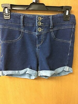 Girl's size 14 blue jean highwaisted shorts