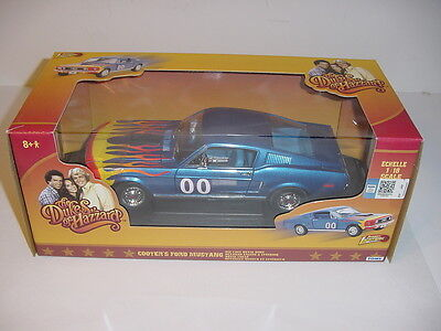"1/18 Dukes Of Hazzard 1968 Ford Mustang ""Cooter #00"" NIB! High Detail!"