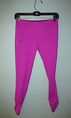 Under Armour~Girls Large Purple Athletic Pants With Bottom Rouching~Fitted~Ylg~