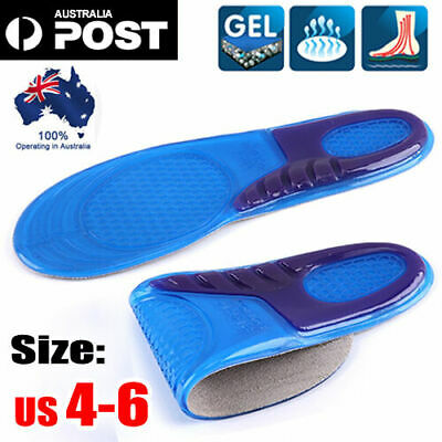 A Pair Massaging Gel Shoe Insoles Arch Supports For Women FlatFoot High Quality