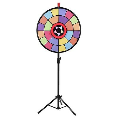 """WinSpin™ 24"""" Floor Stand Prize Wheel 2 Circles 2 Pointers Spin Game Tradeshow"""