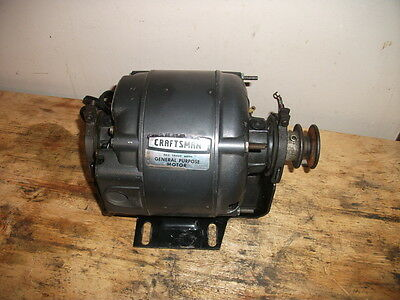 CRAFTSMAN 1/3 hp ELECTRIC MOTOR NICE CLEAN MOTOR