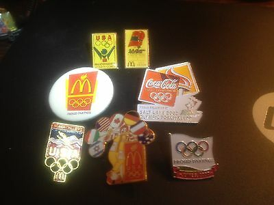 McDonald's Olympic Collector Pins Including Ronald USA Olympic Pin