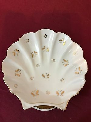 Vintage Lenwile Ardalt~Japan Hand Painted~Clam Shell Butterflies **FREE SHIP**
