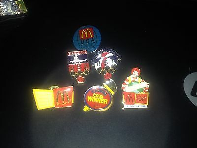 McDonald's Olympic Collector Pins Including US Wins